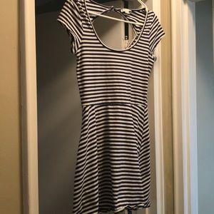 Dresses & Skirts - American Eagle cotton dress navy and white stripe